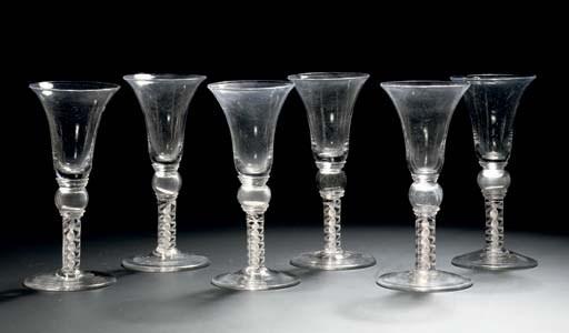 A set of six opaque-twist 'coi