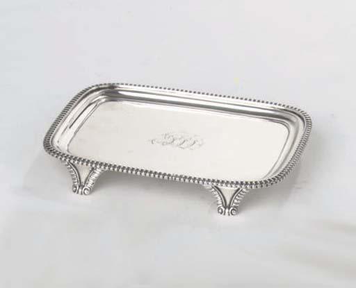 An english silver George III salver
