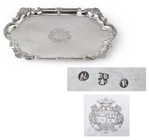 A fine Dutch silver salver
