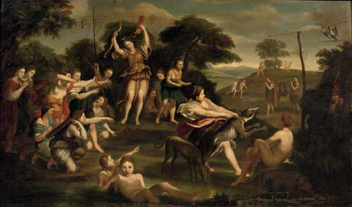 Diana and her nymphs after the hunt