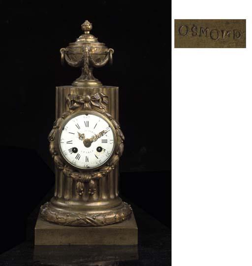 A LOUIS XVI ORMOLU STRIKING MANTEL CLOCK