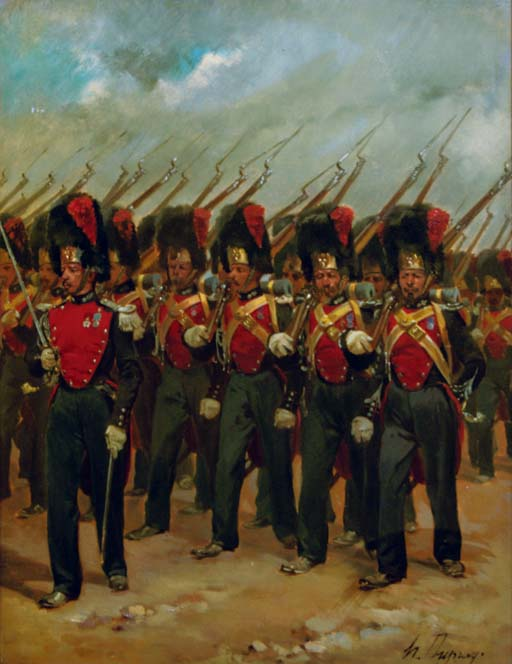 French soldiers marching