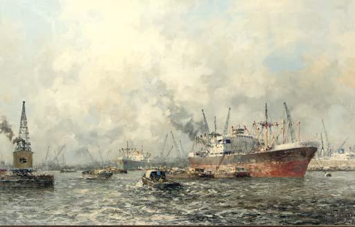 Activities in Rotterdam harbour