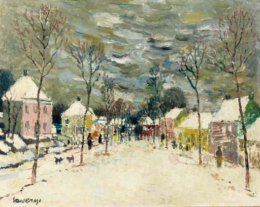 Village l'Hiver - Village street in winter