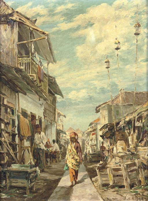 Woman in an alley, Indonesia