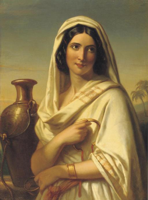 Rebecca met de geschenken van Eliëzer: an oriental beauty