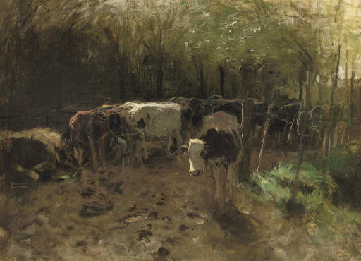 De Koeienbocht: a herd of cows on a country path