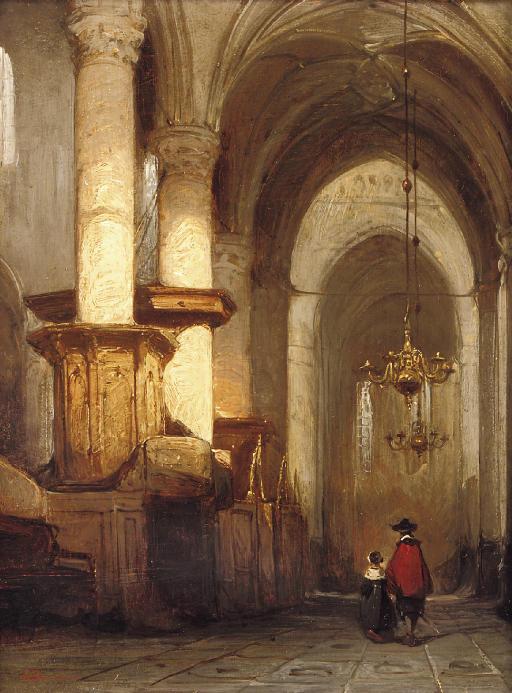 Interior of the St. Laurens- or Grote Kerk in Alkmaar
