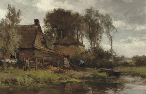 A riverside farmhouse