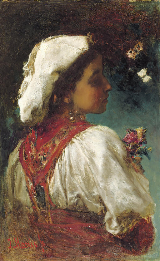 Italienne: flowers and butterflies