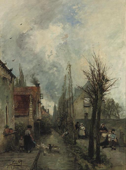 Au bord du canal, Delft
