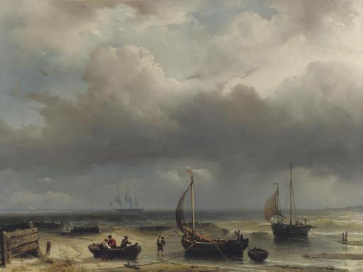 Fisherfolk along the Dutch coast