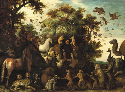 Aesopus and the animals in a landscape