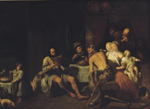 The Fable of the Satyr and the peasant family