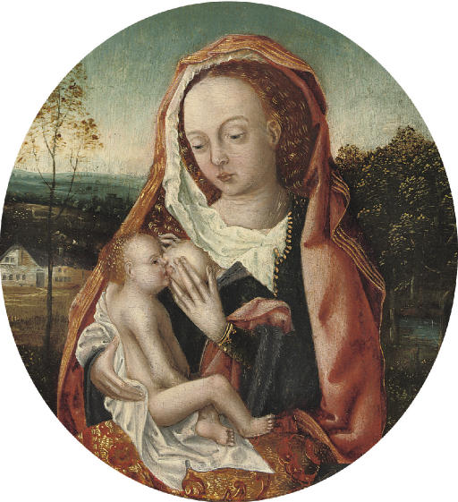 The Virgin and Child in a wooded landscape