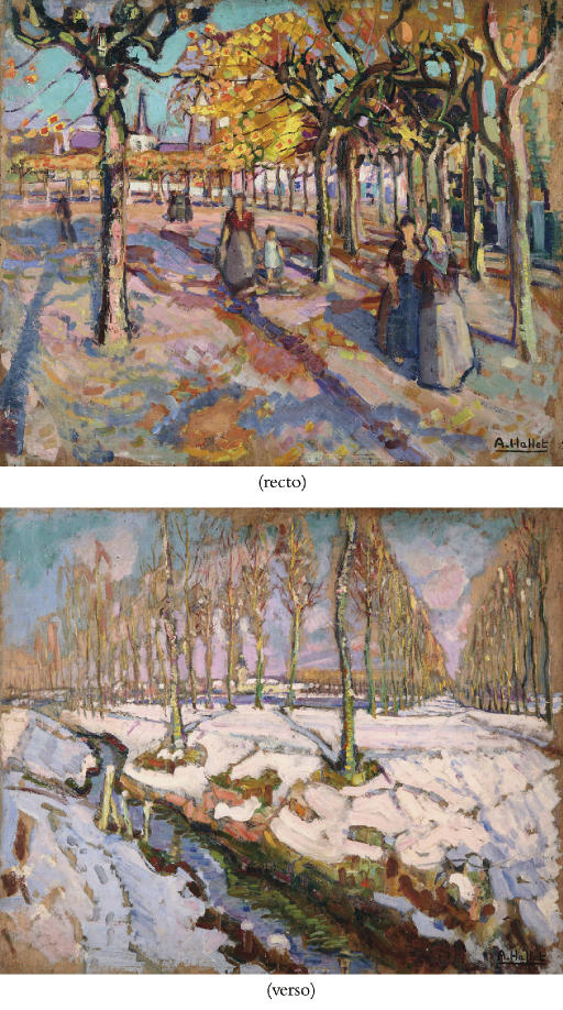 La Place d'Arles (recto); A forest in winter (verso)