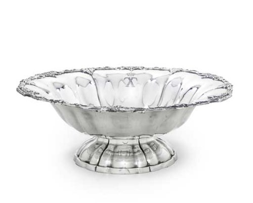 A SILVER-PLATED BOWL