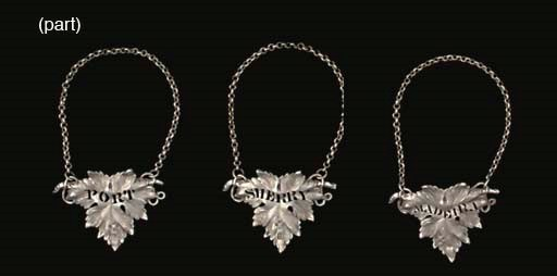 A SET OF FIVE VICTORIAN SILVER