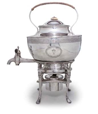 A GEORGE III SILVER TEA-KETTLE