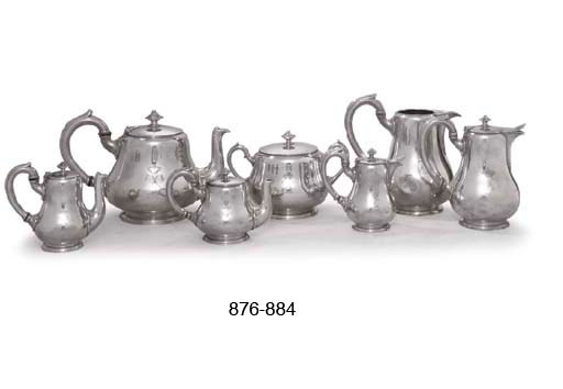 A FRENCH SILVER-PLATED TEA AND