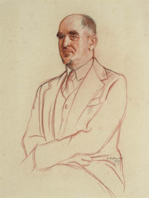 Portrait of Sir David Low, half-length