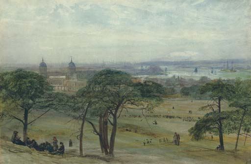 A view of Greenwich with the Naval Hospital, London