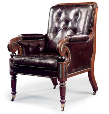 A REGENCY MAHOGANY AND EBONISE