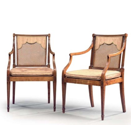 A PAIR OF GEORGE III SOLID SAT