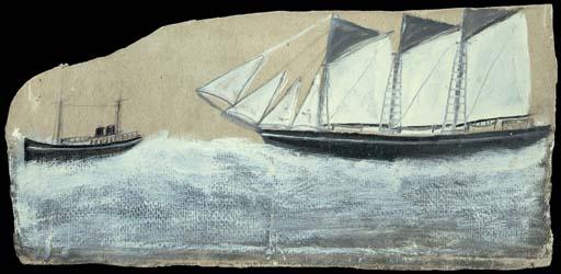 Schooner in full sail