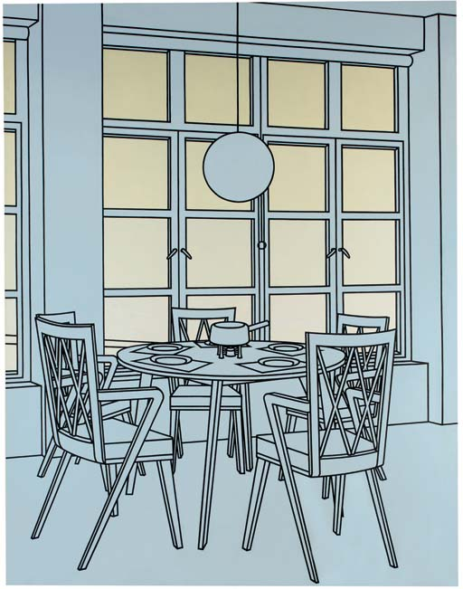 Interior with Fondue Pan
