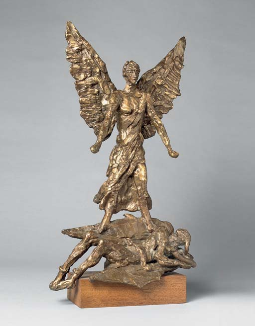 Maquette for St Michael and the Devil