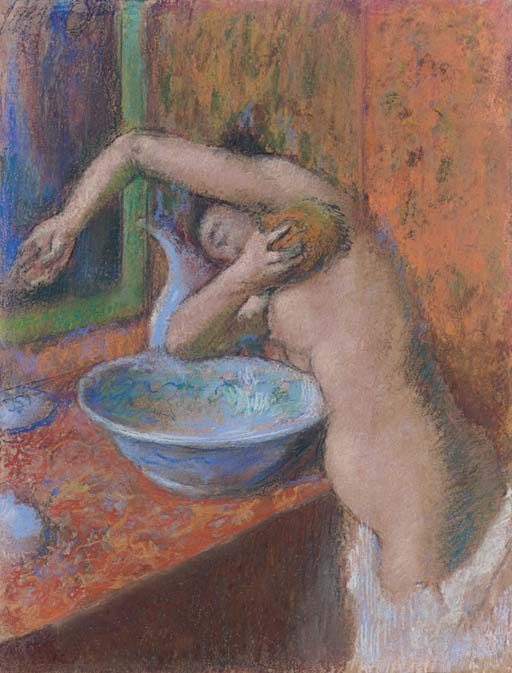Femme à sa toilette