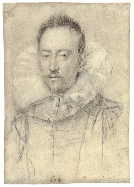 Portrait of a man, bust-length, in a white ruff