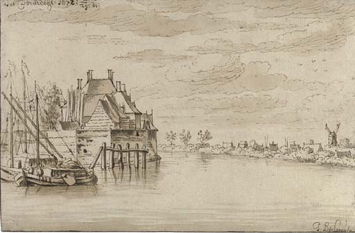 View of the River Maas at Dordrecht
