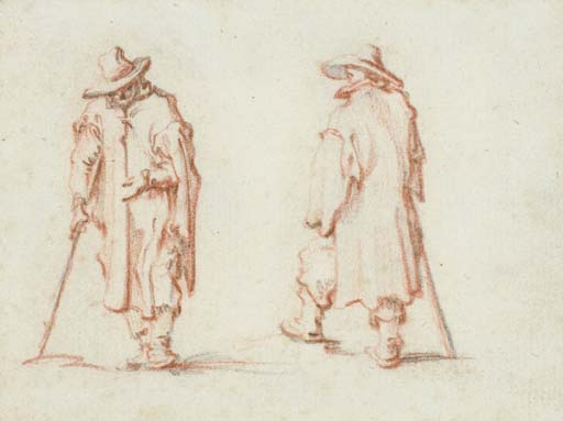 Two men in hats and long coats