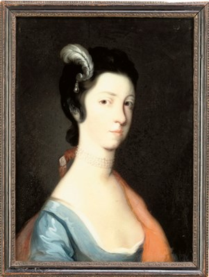 A GEORGE III REVERSE-PAINTING-