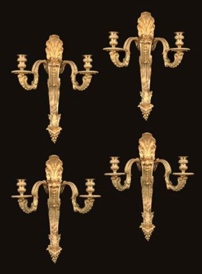A SET OF FOUR REGENCE STYLE OR