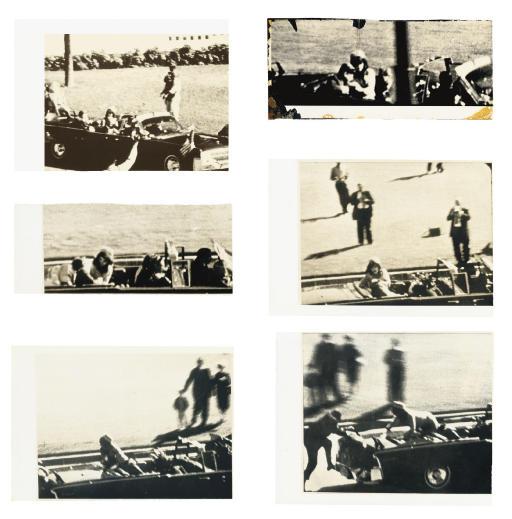 Stills from the Zapruder film of the Kennedy assassination, 22 November 1963