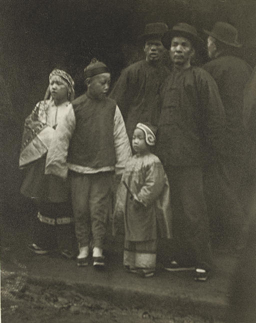 A Mixed Crowd, Old Chinatown, San Fransisco, 1895-1906