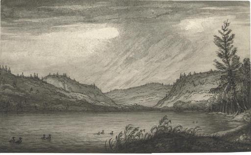 View of Honeoye Lake, Ontario County, New York State