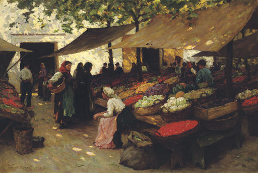Fruit Market, Fiume, Hungary