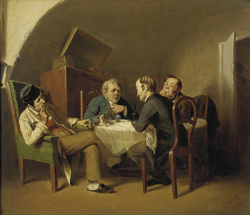 Conversation over a round table
