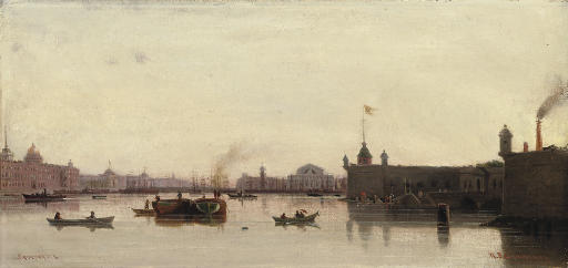 View of the Peter-Paul Fortress and the Stock Exchange, St Petersburg