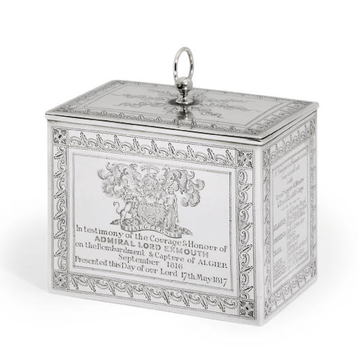 A GEORGE III SILVER TEA-CADDY