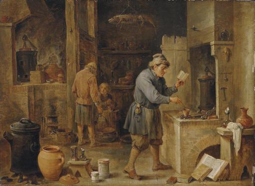An alchemist in his workshop