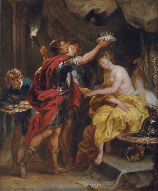 Alexander crowning Roxana