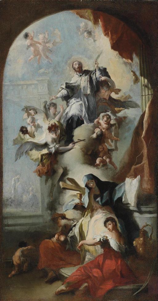 The Glorification of Saint John Nepomuk: a modello for an altarpiece