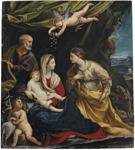 The Holy Family, with Saint Margaret and the Infant Saint John the Baptist