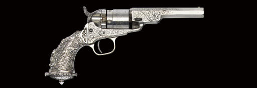 AN ORNATE PRESENTATION .38 COLT CENTRE FIRE 4½IN OCTAGONAL BARREL REVOLVER WITH TIFFANY GRIP, NO. 2370