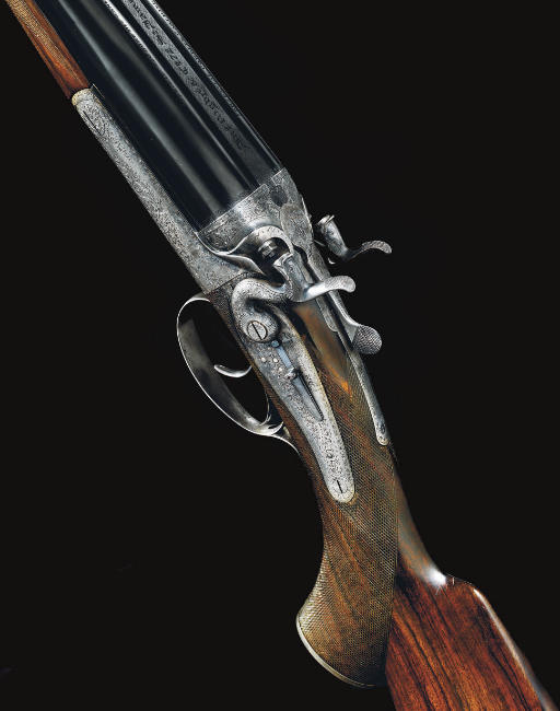 A FINE .470 NITRO EXPRESS DOUBLE-BARRELLED BACK-ACTION HAMMER RIFLE BY RIGBY, NO. 17257